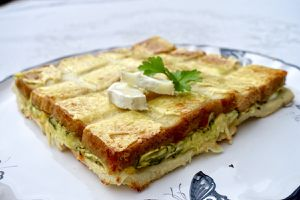 Croque quiche courgette/chèvre