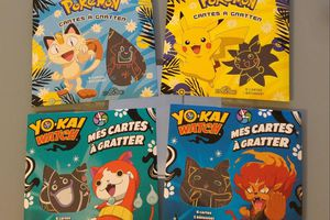Mes cartes à gratter Pokémon et Yo-Kai Watch - Les livres du Dragon d'Or