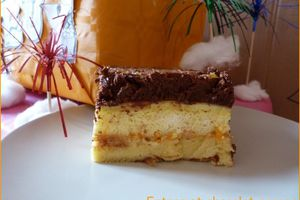 Entremet chocolat orange et sa guimauve à l'orange