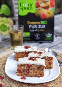 Carrot cake aux cranberries