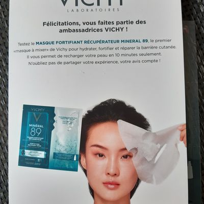 TEST VICHY Masque fortifiant récuperateur Mineral 89