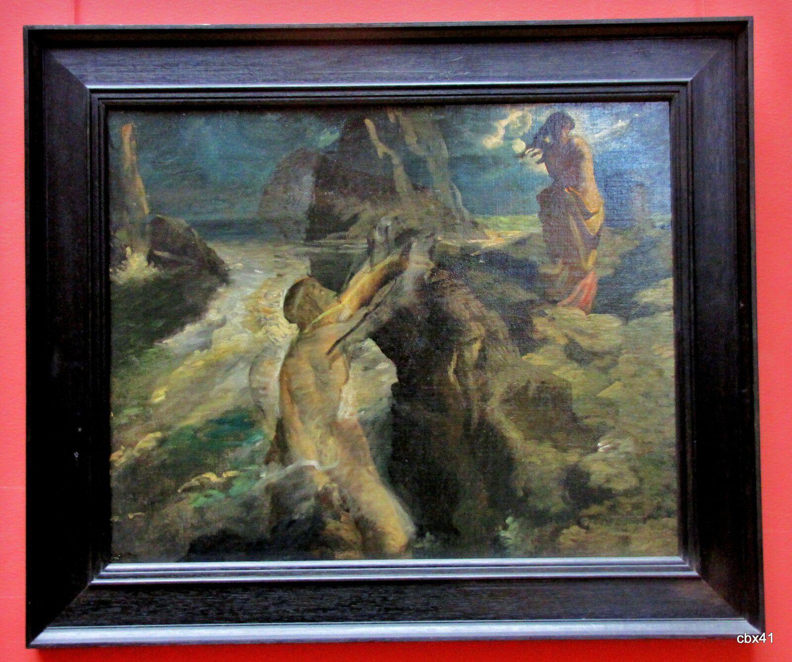 Théodore Chasseriau, Héro et Léandre (Le poète et la sirène)