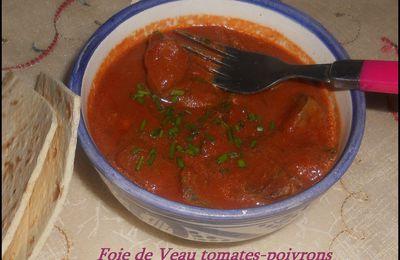 Foie de veau tomates- poivrons : Version Marocaine