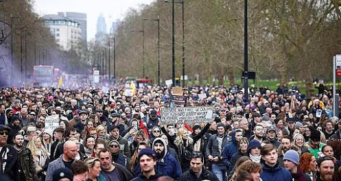 London - Freedom Rally 20 March 2021