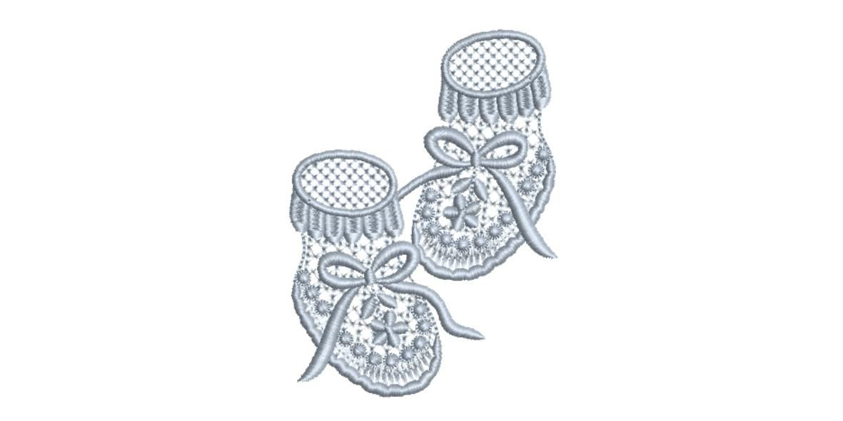 BRODERIE CHAUSSONS BLEUS