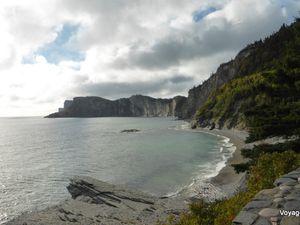 Panorama au pied de la falaise du Cap-Bon-Ami