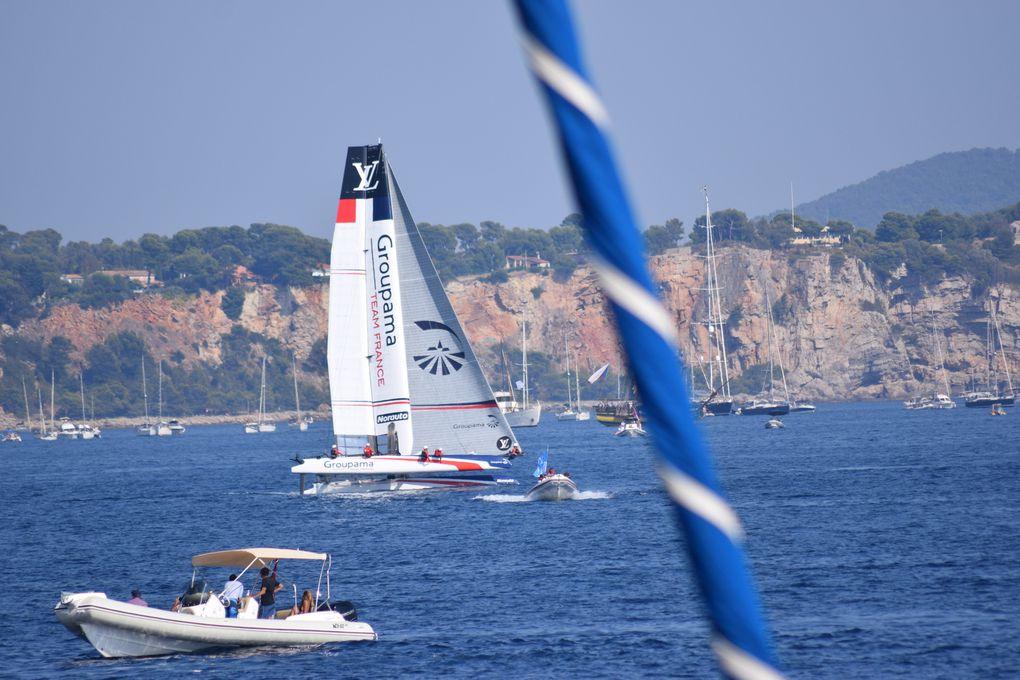 les AC 45 sur le plan d'eau du Morillon à Toulon