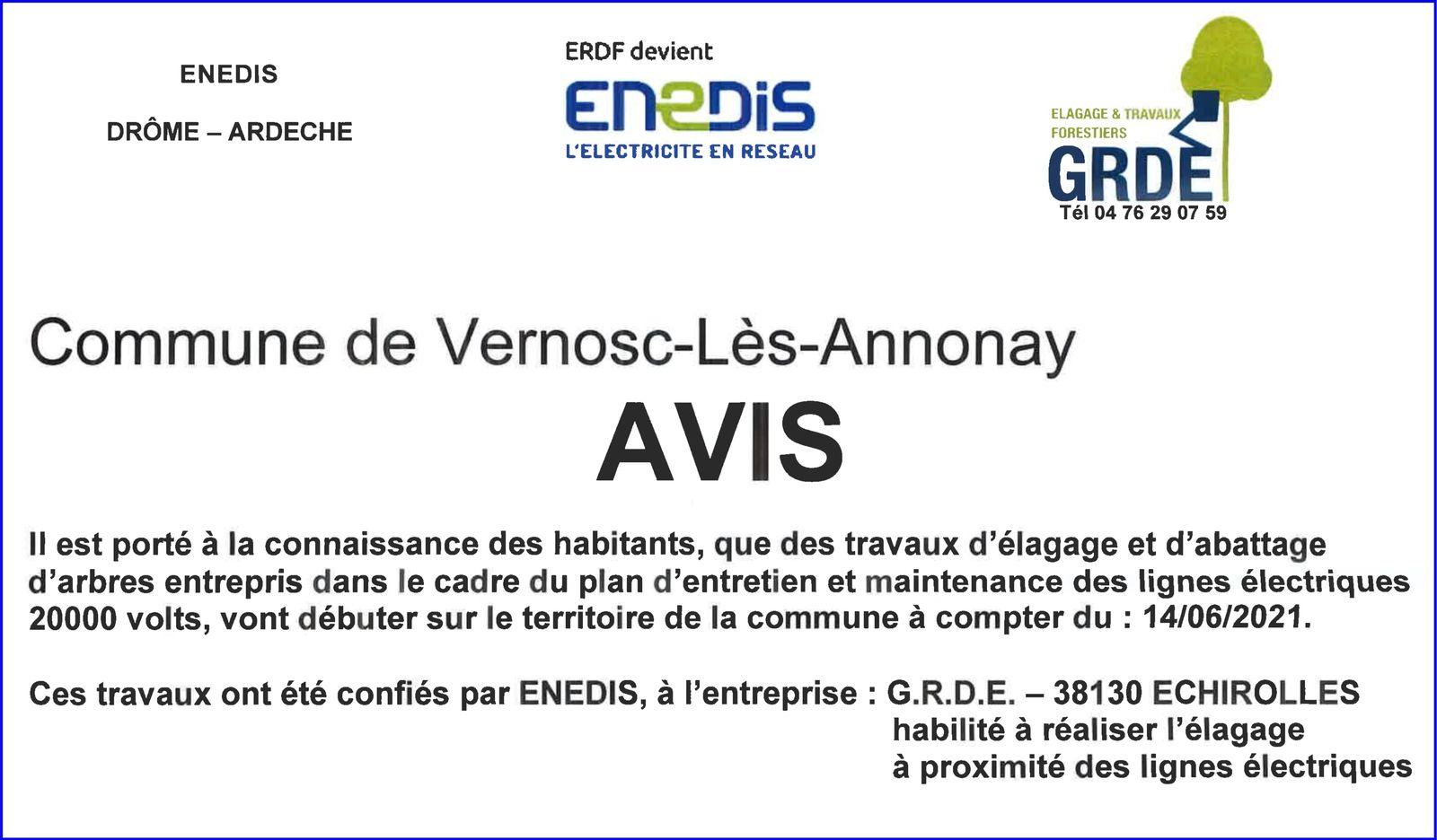 Travaux d'élagage et d'abattage d'arbres à Vernosc-lès-Annonay