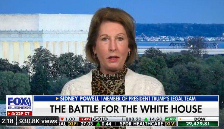 Sydney Powell : Trump a gagné de façon écrasante, ça va être irréfutable