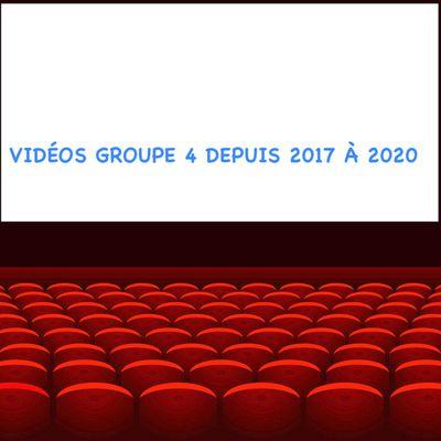 Voici un accès de toutes les vidéos du groupe 4 depuis 2017 - Bon visionnage