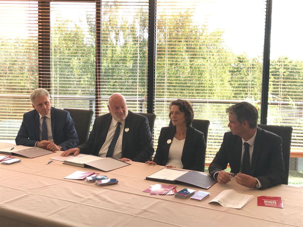 Caen la mer - signature du 100e plan de mobilité avec le Crédit Agricole Normandie