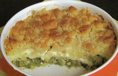 Crumble de courgettes au camembert