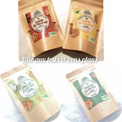 Découverte de sablés artisanaux et biscuits apéritifs de chez BMD sans gluten