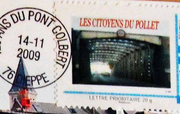"""Dieppe : cartes, timbres et oblitération """"120 ans du Pont Colbert"""""""