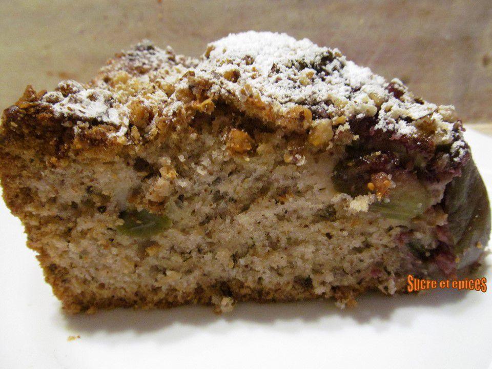 Gâteau aux figues et noix