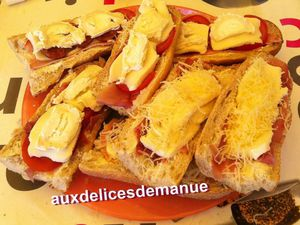 tartines pizza au barbecue