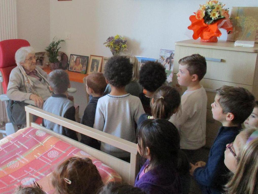 Première visite à la maison de retraite de Feugarolles