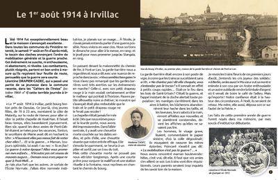 Mémoire de notre Commune d'Irvillac.. Léontine Drapier-Cadec nous raconte ce 1er aout 1914 .. l'entrée en guerre..