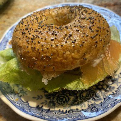 Bagels New-Yorkais au saumon