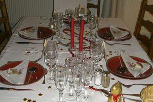 Table et menu de Noel 2011 chez les parents