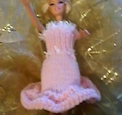 DIY une heure,une robe barbie