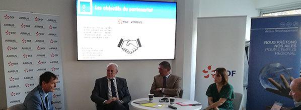 EDF et AIRBUS développement s'engagent au service de l'innovation territoriale en Occitanie