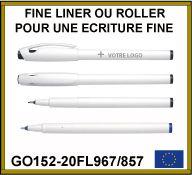 Fine liner et roller clip plastique pour architectes - GO152-20FL967