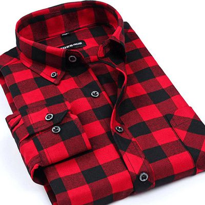 Classic Red Black Men's Shirts Never Go out of Style