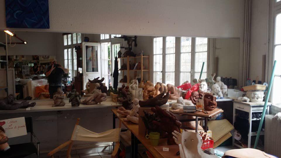 Perpignan: un dimanche à l'atelier d'art décalé ! interview Charlotte Vivot, Cécile Créxeil, Aliénor Labit par Nicolas Caudeville