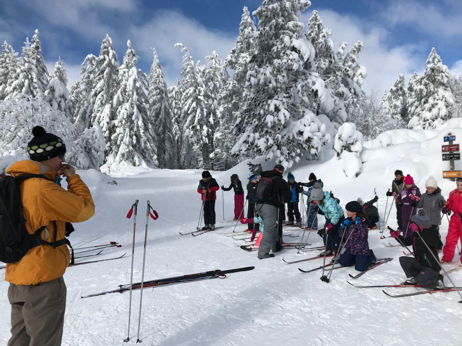 Journées ski sur l'Aubrac, en Lozère