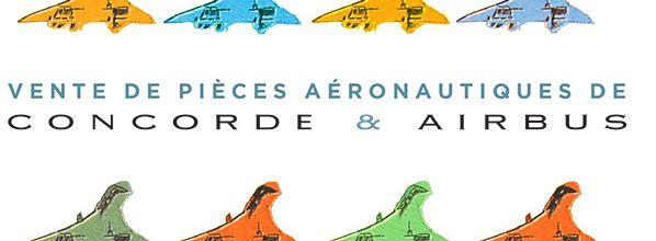Vente aux enchères de lots aéronautiques Concorde et Airbus