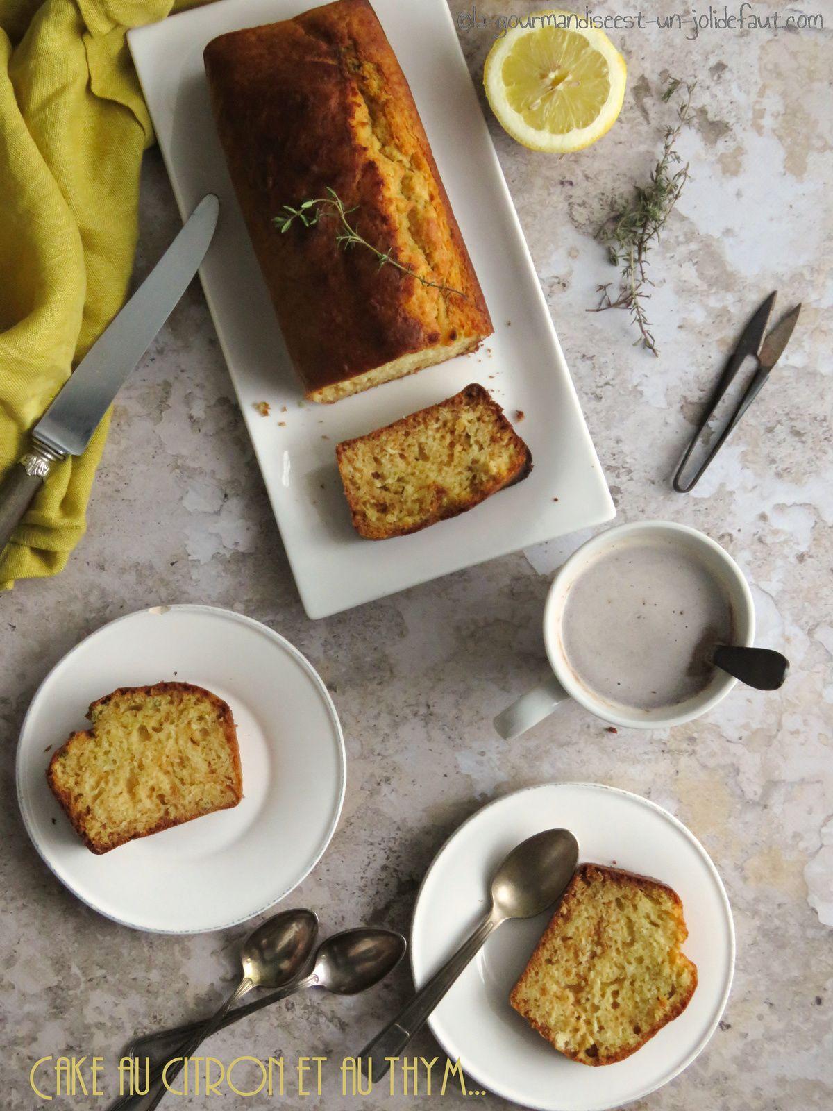 Cake thym-citron