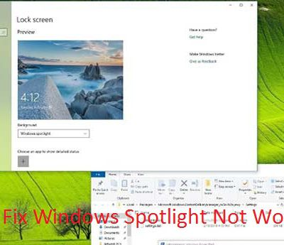 How to Fix Windows Spotlight Not Working?