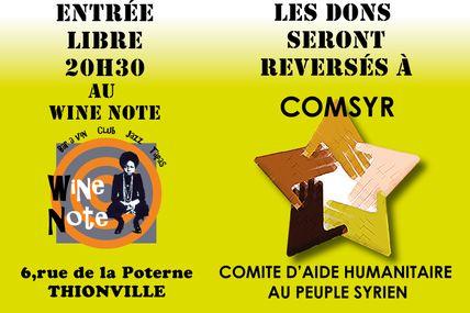 Thionville Concert HELPFORSYRIA Samedi 21 Janvier 2017