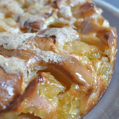 Moelleux aux pommes et sa croute croustillante
