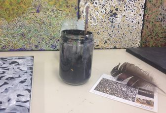 Reflections  and videos in my art studio in SPC