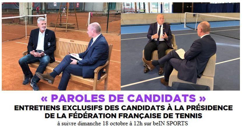 """""""Paroles de Candidats"""" Election à la présidence de la FF Tennis ce dimanche sur beIN SPORTS !"""