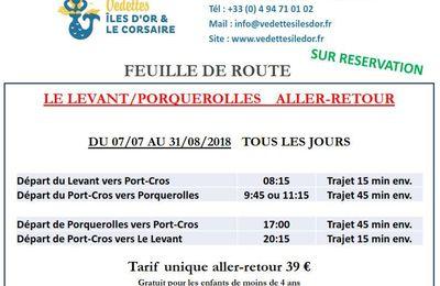 POUR DÉCOUVRIR L'ÎLE DE PORQUEROLLES DEPUIS L'ÎLE DU LEVANT