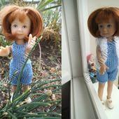 tuto gratuit poupée: salopette coton jean et gilet confortable - Chez Laramicelle