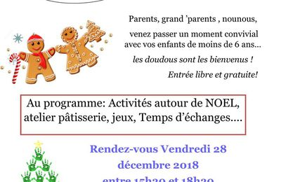 Après-midi parents- enfants 28 décembre 2018