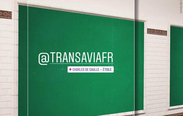 Transavia s'offre les panneaux invendus du métro ! (vidéo) #TheGreenBillboard