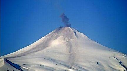 Villarica - explosion modérée du 15.10.2020 /  8h05 locale - Sernageomin