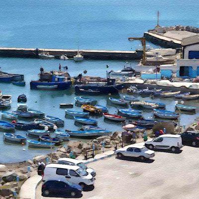 Le port de Tamentfoust (effet aquarelle)
