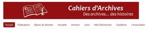 CAHIERS D'ARCHIVES…