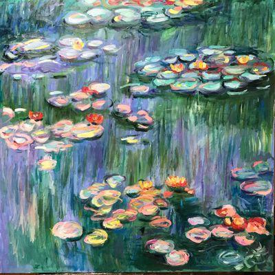 Les Nymphéas d'après Claude Monet