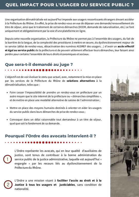 Communiqué de presse de l'ordre des avocats du barreau de Lyon