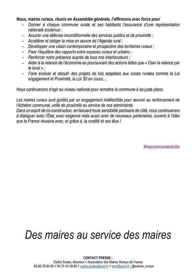 Maires Ruraux de France