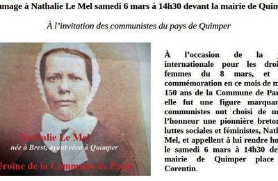 Hommage à Nathalie Le Mel, samedi 6 mars à Quimper (communiqué)