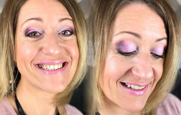 Make-up du jour : tons rose, bordeaux et prune
