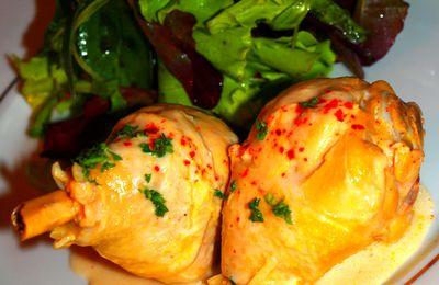 Fricassée de poulet jaune à la coco et citronnelle by Guy Martin